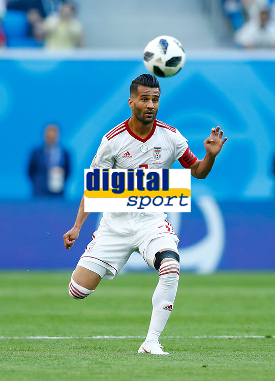 Masoud Shojaei (Iran)<br /> Saint Petersburg 15-06-2018 Football FIFA World Cup Russia  2018 <br /> Morocco - Iran / Marocco - Iran <br /> Foto Matteo Ciambelli/Insidefoto