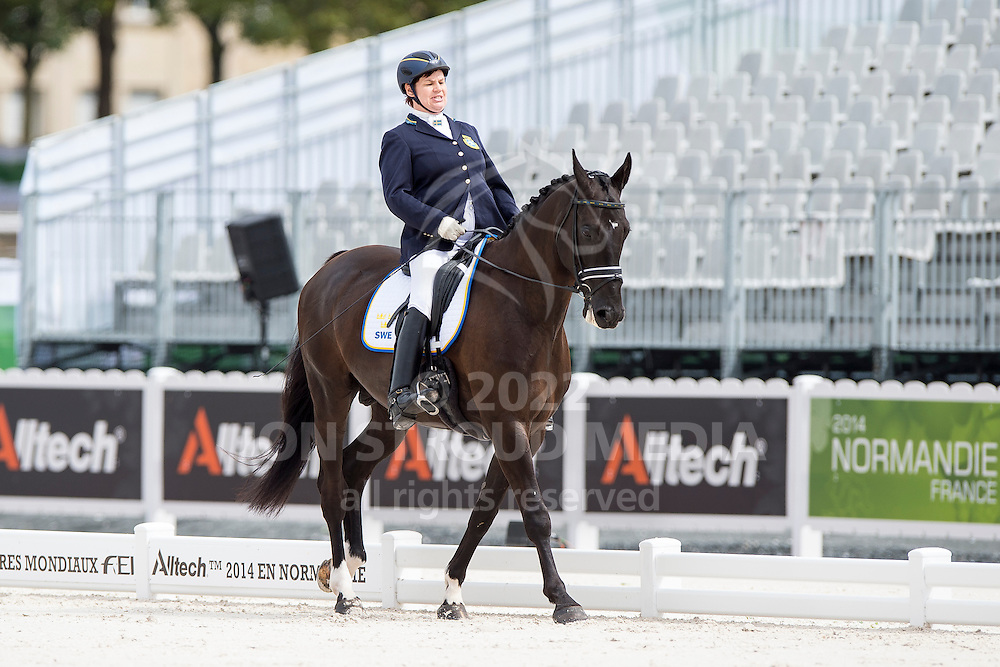 Kerstin Larsson Englund, (SWE), Black Music, - Individual Test Grade Ib Para Dressage - Alltech FEI World Equestrian Games&trade; 2014 - Normandy, France.<br /> &copy; Hippo Foto Team - Jon Stroud <br /> 25/06/14