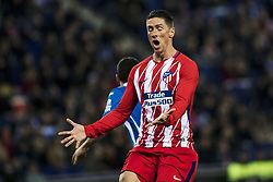 December 22, 2017 - Barcelona, Spain - BARCELONA, SPAIN - DECEMBER 22:  09 Fernando Torres from Spain of Atletico de Madrid during the match of La Liga Santander between RCD Espanyol v Atletico de Madrid, at RCD Stadium in Barcelona on 22 of December, 2017. (Credit Image: © Xavier Bonilla/NurPhoto via ZUMA Press)