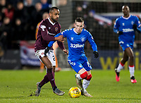 Football - 2019 / 2020 William Hill Scottish Cup - Quarter-Final: Heart of Midlothian vs. Rangers<br /> <br /> Ryan Kent of Rangers vies with Loic Damour of Hearts, at Tynecastle Park, Edinburgh.<br /> <br /> COLORSPORT/BRUCE WHITE