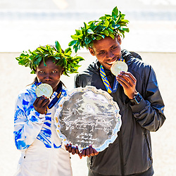 04-11-2018 USA: 2018 TCS NYC Marathon, New York<br /> Race day TCS New York City Marathon / Lelisa Desisa and Mary Keitany win 2018 TCS New York City Marathon Titles