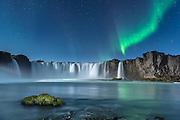 Godafoss waterfall in northeast Iceland.
