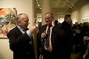 GODFREY BARKER AND STEVEN HILL, Adam Dant: The Art of Hedge. Robilant and Voena Gallery. Dover st. London. 12 November 2007. -DO NOT ARCHIVE-© Copyright Photograph by Dafydd Jones. 248 Clapham Rd. London SW9 0PZ. Tel 0207 820 0771. www.dafjones.com.