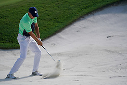 August 9, 2018 - St. Louis, Missouri, United States - Jordan Spieth hits out of a bunker during the first round of the 100th PGA Championship at Bellerive Country Club. (Credit Image: © Debby Wong via ZUMA Wire)