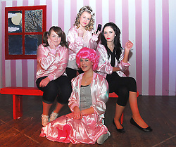 Transition Year students from Our Lady's Secondary School Belmullet during final rehersals for 'Grease' the musical. Bridget McDermott as Frenchie, Edel Sweeney as Jan, Katelyn Brady as Marty and Shannen Doran as Rizzo...Pic Conor McKeown