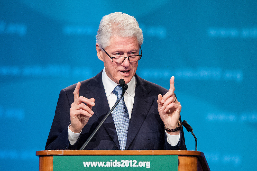 Former US President Bill Clinton addresses the closing session of the XIX International AIDS Conference at the Walter E. Washington Convention Center in Washington, DC, USA on 27 July, 20121.