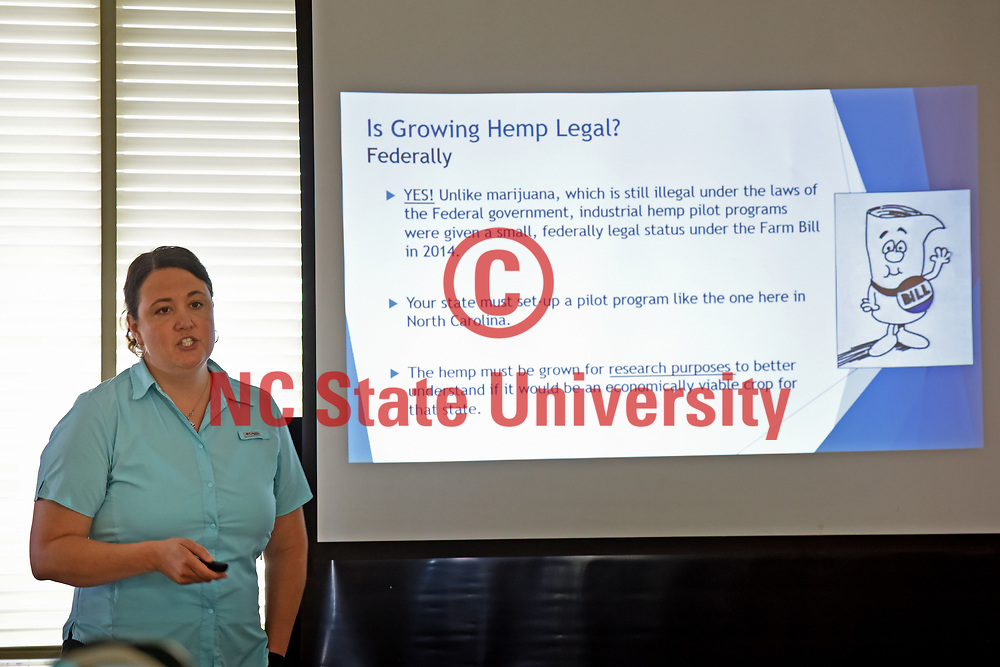 Industrial Hemp Program Manager Emily Febles speaks to the legality of growing hemp in North Carolina.