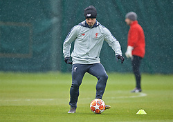 LIVERPOOL, ENGLAND - Tuesday, April 16, 2019: Liverpool's Xherdan Shaqiri during a training session at Melwood Training Ground ahead of the UEFA Champions League Quarter-Final 2nd Leg match between FC Porto and Liverpool FC. (Pic by Laura Malkin/Propaganda)