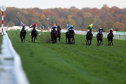 Lord Oberon ridden by Clifford Lee (3rd right) wins the Visit marathonbet.co.uk Handicap race during Marathonbet November Handicap Day at Doncaster Racecourse.