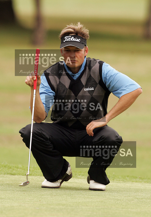 Bearing Man Highveld Classic| Dion Fourie | WITBANK, Saturday 6 October 2007, Dion Fourie during the second round of the Bearing Man Highveld Classic being held at the Witbank Golf Club in Witbank, Mpumalanga Province...Photo by Roger Sedres/ImageSA