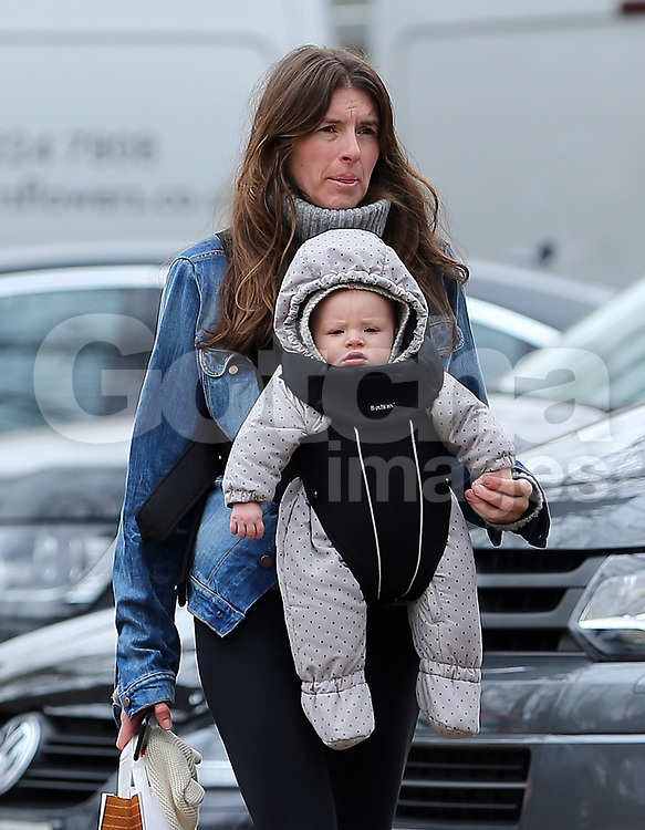 Jools Oliver and her son River Rocket out and about in London, UK. 14/03/2017<br />