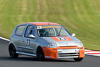 #23 Paul Anderton Renault Clio 172 2000 during the CSCC Tin Tops at Oulton Park, Little Budworth, Cheshire, United Kingdom. October 15 2016. World Copyright Peter Taylor/PSP. <br /> Copy of publication required for printed pictures.  Every used picture is fee-liable. http://archive.petertaylor-photographic.co.uk