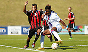 Andre Coker on the turn during the Pre-Season Friendly match between Lewes FC and Crystal Palace at the Dripping Pan, Lewes, United Kingdom on 1 August 2015. Photo by Michael Hulf.