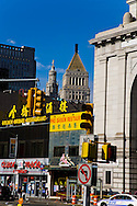 New York. canal street and Chinatown, and downtown Manhattan, city hall and art deco buildings  New York - United states  /  canal street Chinatown, Manhattan; la mairie et buildings art deco  New York - Etats-unis