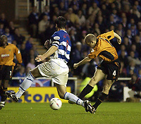 Copyright Sportsbeat. 0208 3926656<br />Picture: Henry Browne<br />Date: 14/05/2003<br />Reading v Wolverhampton Wanderers First Division play off semi final second leg<br />Alex Rae of Wolves scores their first goal past Adie Williams of Reading