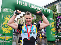 "Gerard Corcoran winner  in the ""Westport  Sea 2 Summit ""  adventure race on the top of Croagh Patrick, where 1100 athletes ran, cycled and hiked 56km(summit) in Co Mayo . Photo:Andrew Downes"