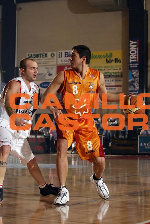 DESCRIZIONE : Biella Lega A1 2007-08 Angelico Biella Solsonica Rieti<br /> GIOCATORE : Davide Bonora<br /> SQUADRA : Solsonica Rieti<br /> EVENTO : Campionato Lega A1 2007-2008 <br /> GARA : Angelico Biella Solsonica Rieti  <br /> DATA : 20/01/2008 <br /> CATEGORIA : Palleggio<br /> SPORT : Pallacanestro <br /> AUTORE : Agenzia Ciamillo-Castoria/E.Pozzo