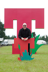 T in the Park creator Geoff Ellis, in the main arena at a photo-call for the T in the Park 2012, held at Balado, in Fife, Scotland..