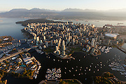 Aerial view of Vancouver, BC, Canada