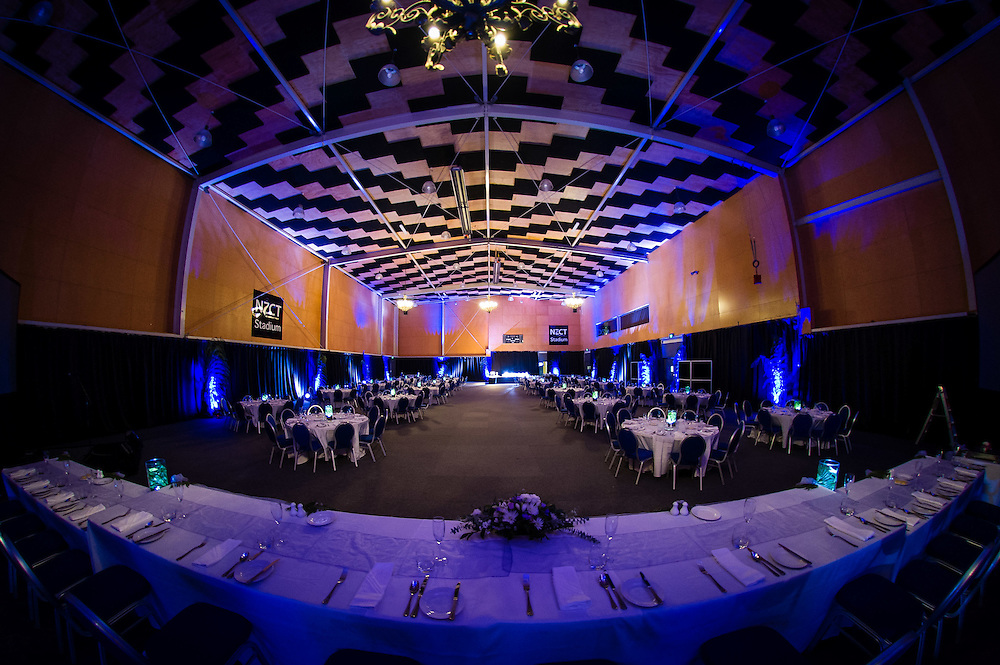WELLINGTON, NEW ZEALAND - May 23: Te Rauparaha Arena with wedding setup May 23, 2015 in Wellington, New Zealand. (Photo by Mark Tantrum/ http://mark tantrum.com)