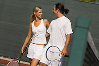 Mixed Doubles Partners on Court