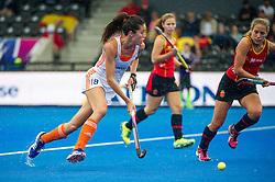 The Netherlands Naomi Van As. Spain v The Netherlands - Unibet EuroHockey Championships, Lee Valley Hockey & Tennis Centre, London, UK on 23 August 2015. Photo: Simon Parker