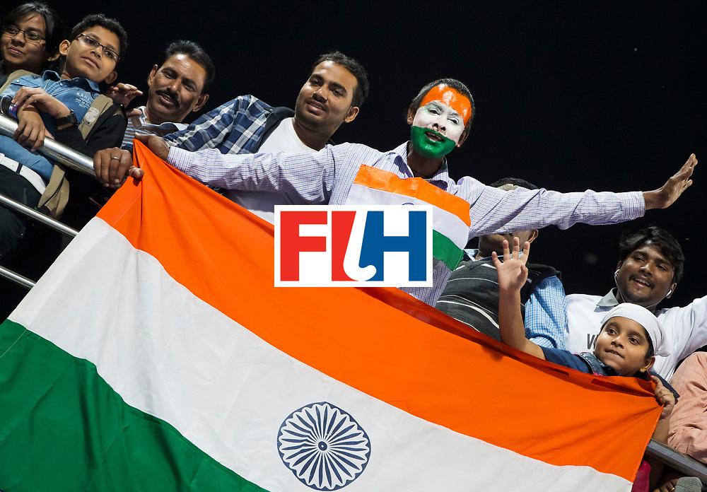 BHUBANESWAR - The Odisha Men's Hockey World League Final . Match ID 01 . India supporters WORLDSPORTPICS COPYRIGHT  KOEN SUYK