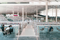 New Qatar national Library in Education City, Doha, Qatar. Architect, Rem Koolhaas.