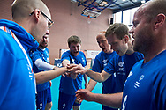 Katowice, Poland - 2017 September 01: SO Finland team while time out of SO Azerbaijan v SO Finland match during European Unified Volleyball Tournament 2017 at Spodek Hall on September 01, 2017 in Katowice, Poland.<br /> <br /> Adam Nurkiewicz declares that he has no rights to the image of people at the photographs of his authorship.<br /> <br /> Picture also available in RAW (NEF) or TIFF format on special request.<br /> <br /> Any editorial, commercial or promotional use requires written permission from the author of image.<br /> <br /> Image can be used in the press when the method of use and the signature does not hurt people on the picture.<br /> <br /> Mandatory credit:<br /> Photo by © Adam Nurkiewicz / Mediasport