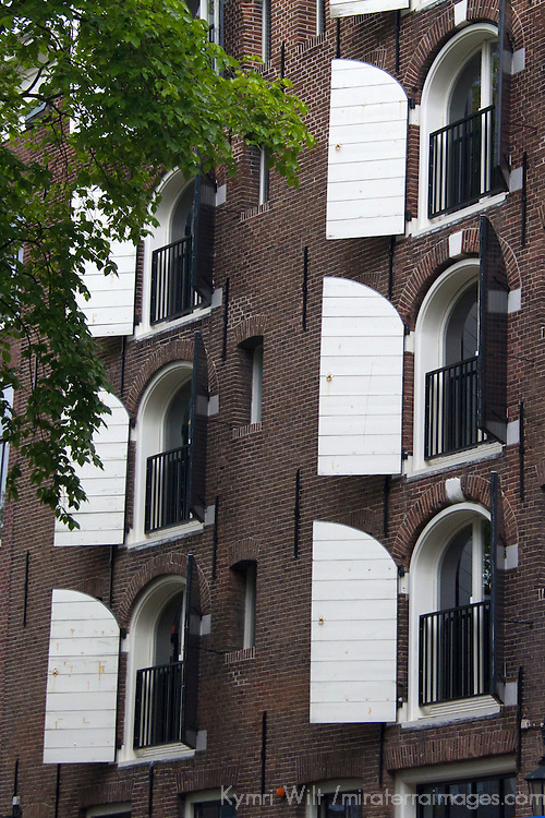 Europe, Netherlands, Amsterdam. Warehouse apartment conversions.