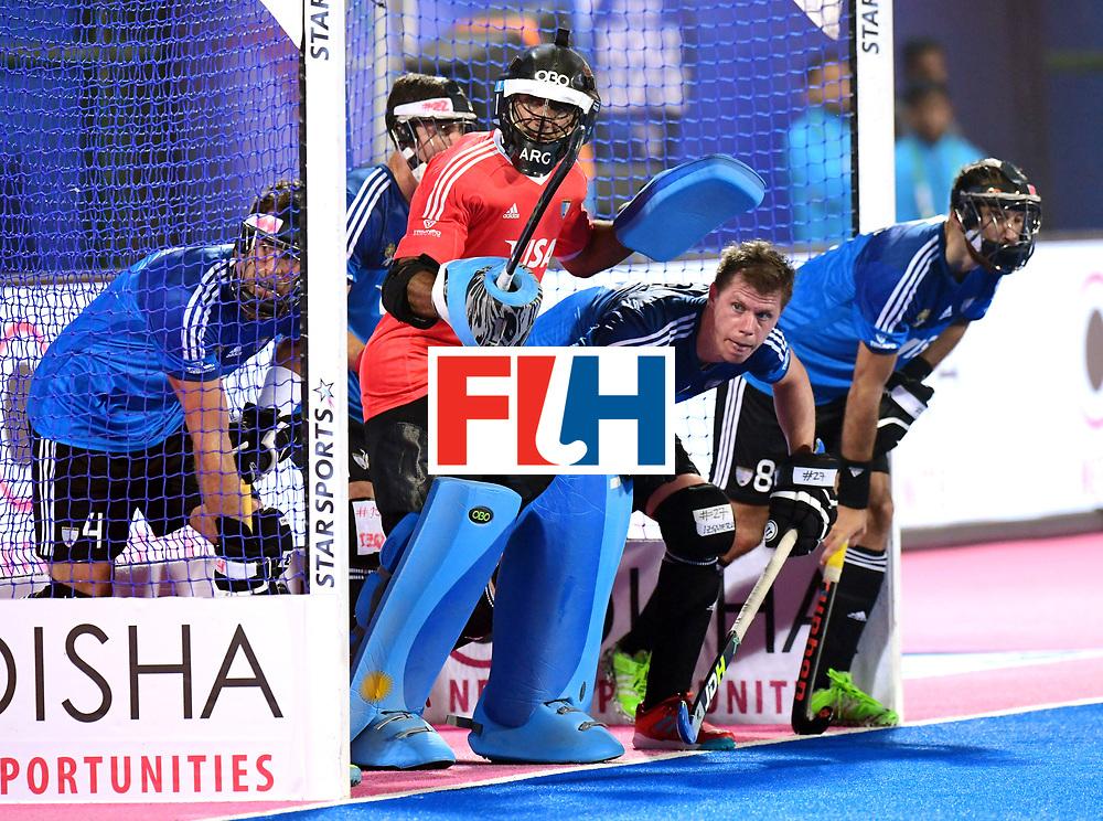 Odisha Men's Hockey World League Final Bhubaneswar 2017<br /> Match id:14<br /> England v Argentina<br /> Foto: keeper Juan Vivaldi (Arg) <br /> COPYRIGHT WORLDSPORTPICS FRANK UIJLENBROEK