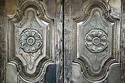 Nagore. Doors to the innermost shrine at the Dargah Shrine.