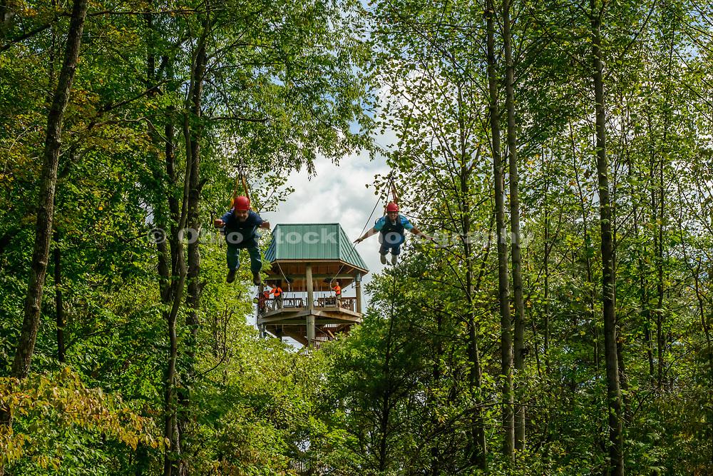 Hocking Hills Canopy Tours in Rockbridge, Ohio.