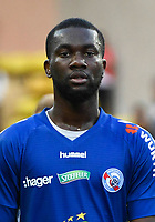 Jean Eudes Aholou of Strasbourg during the Ligue 1 match between AS Monaco and Strasbourg at Stade Louis II on September 16, 2017 in Monaco. (Photo by Pascal Della Zuana/Icon Sport )