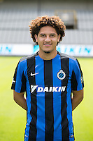 Club's Felipe Gedoz Da Conceicao poses for the photographer during the 2015-2016 season photo shoot of Belgian first league soccer team Club Brugge, Friday 17 July 2015 in Brugge