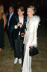 DAPHNE GUINNESS and her son NICK NIARCHOS at the Serpentine Gallery Summer party sponsored by Yves Saint Laurent held at the Serpentine Gallery, Kensington Gardens, London W2 on 11th July 2006.<br /><br />NON EXCLUSIVE - WORLD RIGHTS