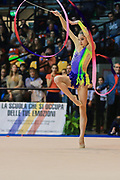 Letizia Cicconcelli atleta della società Ginnastica Fabriano durante la prova di Desio del Campionato Italiano di Ginnastica Ritmica.<br /> La gara si è svolta il 31 ottobre 2015.