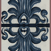 Akroter design elements on front door in Greenwick Village<br /> <br /> The Acroterion was in the Renaissance, the classicism and historical in the use element of ornamentation in architecture.<br /> <br /> Two or more layers were used to enhance, alter, manipulate the image, creating an abstract surrealistic mirrored symmetry.<br /> <br /> The Acroterion, also the Akroter or Akroterie is used as an architectural element of the crowning of the gabled ridge and the ornament of the expiring pitched roof on the gable corners