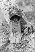 Apache baby in carrier, 1923.