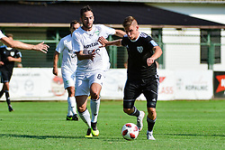 Luka Bobicanec of NS Mura vs Marco Da Silva of NK Krsko during football match between NS Mura and NK Krsko in 5th Round of Prva liga Telekom Slovenije 2018/19, on August 19, 2018 in Mestni stadion Fazanerija, Murska Sobota, Slovenia. Photo by Mario Horvat / Sportida