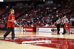 05 February 2016: Ball crew. Illinois State University Women's Redbird Basketball team hosted the Sycamores of Indiana State for a Play4 Kay game at Redbird Arena in Normal Illinois.