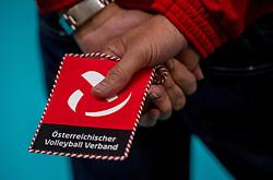 23-09-2016 NED: EK Kwalificatie Nederland - Oostenrijk, Koog aan de Zaan<br /> Nederland pakt de eerste set 25-17 / Vaantje Oostenrijk, weggevertje, item