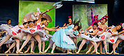 Alice in Wonderland , modern jazz ballet performed on main street Ushuaia, Argentina