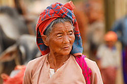 A woman at the Indein market on the shores of Inlé Lake, Burma (Myanmar)
