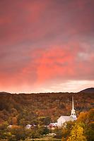 Stowe Sunrise Alpenglow, Vermont