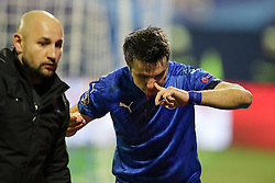 Alexandru Matel of GNK Dinamo Zagreb during football match between GNK Dinamo Zagreb and Olympique Lyonnais in Group H of Group Stage of UEFA Champions League 2016/17, on November 22, 2016 in Stadium Maksimir, Zagreb, Croatia. Photo by Morgan Kristan / Sportida