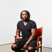 Rashid Johnson photographed at Hauser &amp; Wirth Gallery, 511 West 18th St., New York, New York, August 25th, 2016.<br /> Yvonne Albinowski/For New York Observer