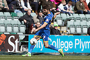 George Francomb midfielder for AFC Wimbledon (7) during the Sky Bet League 2 match between Plymouth Argyle and AFC Wimbledon at Home Park, Plymouth, England on 9 April 2016. Photo by Stuart Butcher.
