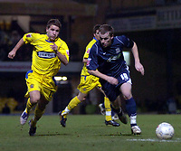 Photo: Matt Bright.<br /> Southend United v Dagenham and Redbridge. FA Cup Third Round. 05/01/2008. <br /> Ben Stevens of Dagenham & Steven Hammell of Southend