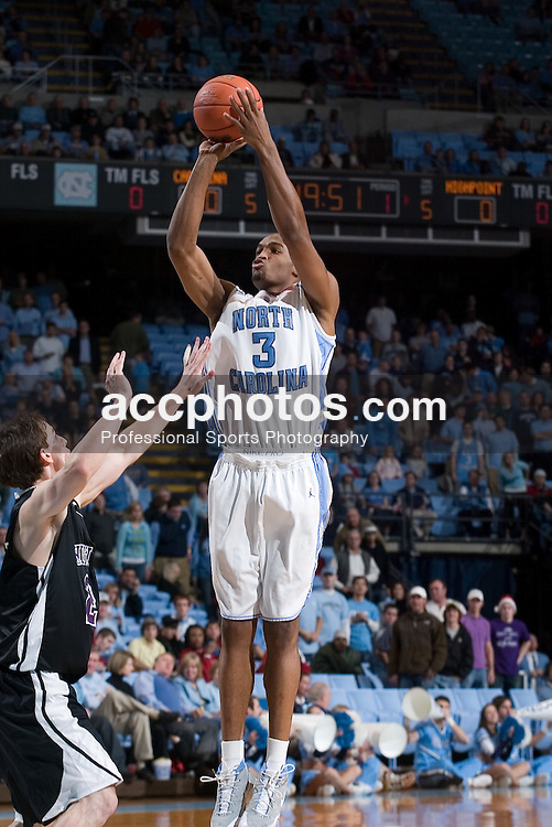 09 December 2006:  North Carolina Tar Heels forward (3) Reyshawn Terry during a North Carolina Tar Heels 94-69 win over the High Point  Panthers at the Dean Smith Center in Chapel Hill, NC.<br />